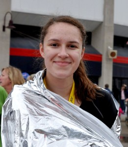 Paloma Wiggins at the 2011 Flying Pig Marathon