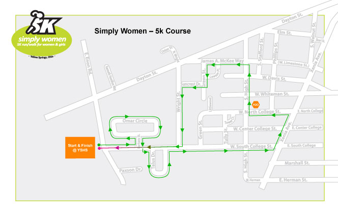 2011 Simply Women 5k Course Map