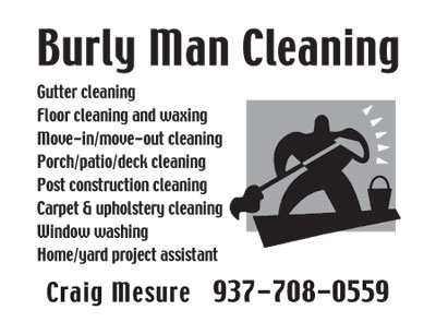 Burly Man Cleaning